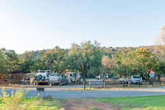 Camping grounds in the Mountain Zebra National Park Stock Photo