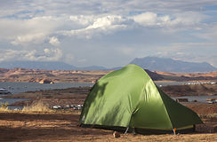 Camping at Halls Crossing, Utah Royalty Free Stock Image