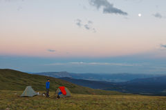 Camping in the High Country Royalty Free Stock Photos