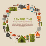 Camping and Hiking Lifestyle Background Royalty Free Stock Photo