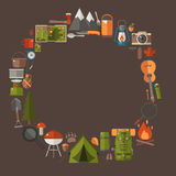 Camping and Hiking Lifestyle Background Stock Photos