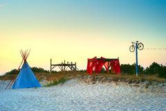 Camping hippie Stock Photography