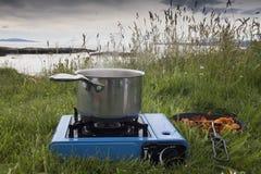 Camping holiday royalty free stock image