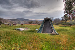 Camping Holiday Landscape Stock Photos