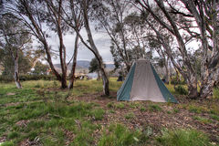 Camping Holiday Landscape Stock Photo