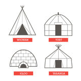 Camping homes set Stock Images
