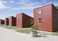 Camping houses Stock Image