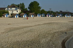 Camping huts on the beach Stock Photography