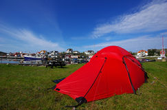 Camping on Hyppeln, Sweden Stock Image
