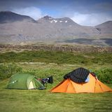 Camping in Iceland Stock Images