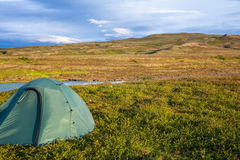 Camping in Iceland Royalty Free Stock Photography