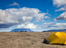 Camping in Iceland Stock Photo