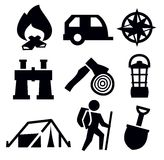 Camping icon Stock Photos