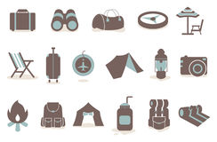 Camping icon Stock Photos