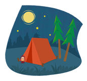 Camping Icon Royalty Free Stock Photo