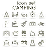 Camping icon set. Stock Images