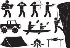 Camping icon set. Camping design elements icon set stock illustration