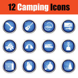 Camping icon set. Royalty Free Stock Photography