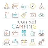 Camping icon set Royalty Free Stock Image