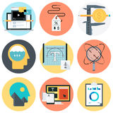 Camping icon set Stock Photography