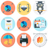 Camping icon set Royalty Free Stock Photography
