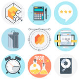 Camping icon set Royalty Free Stock Images