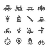 Camping icon set, vector eps10 Stock Image