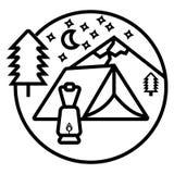 Camping icon vector. Illustration photo vector illustration