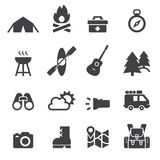 Camping icon Stock Photo
