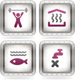 Camping Icons Stock Photos