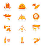 Camping icons  Royalty Free Stock Photos