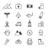 Camping Icons Line Royalty Free Stock Image