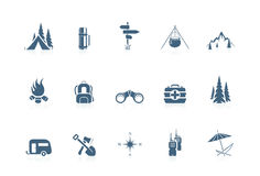 Camping icons | piccolo series Royalty Free Stock Images