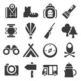 Camping icons Royalty Free Stock Images