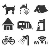 Camping icons - set 1 vector illustration