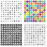 100 camping icons set vector variant. 100 camping icons set vector in 4 variant for any web design isolated on white vector illustration