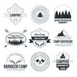 Camping icons Stock Image