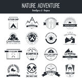 Camping icons Stock Photography