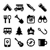 Camping Icons Set Stock Photography
