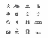 Camping Icons. Vector camping icon set, camping icons,  set, , nature Royalty Free Stock Image