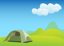 Camping in idyllic mountain Stock Photo
