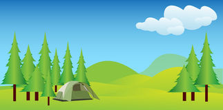 Camping in idyllic mountains Stock Images