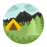 Camping Illustration Stock Photos