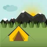 Camping Illustration Royalty Free Stock Images