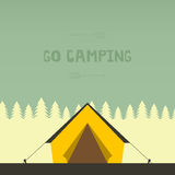 Camping Illustration Stock Images
