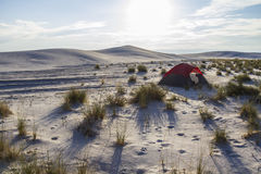 Camping inside White Sands Monument Stock Images