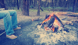 Camping Instagram Style Royalty Free Stock Photos