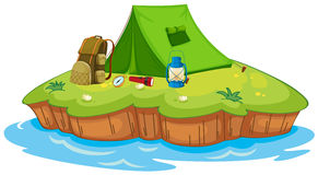 Camping on an island Royalty Free Stock Images