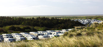 Camping on the island of Sylt Westerland.  stock image