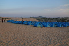Camping in the Jade Lonza Lake Park, chifeng city, Inner Mongolia, China Royalty Free Stock Photography